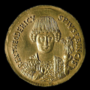 Théodoric le Grand (monnaie du Palazzo Massimo, Rome, ©Wikimedia)