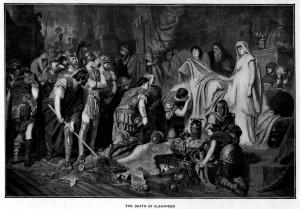 Karl von Piloty - La mort d'Alexandre le Grand