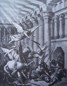 Héliodore chassé du Temple (Gustave Doré, 1866).